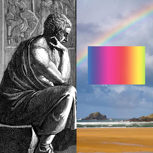 Aristotle's 'rays of light' and Newton's' 'physics of the rainbow'